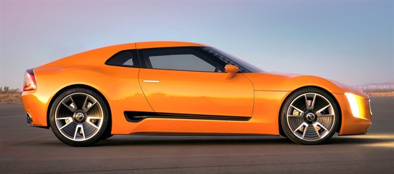 The Kia GT4 concept.  Surprised it's a Kia?  Designers hoped you'd be!